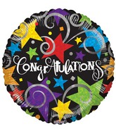 "4"" Airfill Only Congratulations Black Balloon"