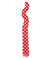 "14"" Airfill Only Kurly Zig Zag Red Dots Balloon"