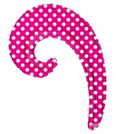 "14"" Airfill Only Kurly Wave Hot Pink Dots Balloon"