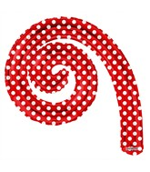 "14"" Airfill Only Kurly Spiral Red Dots Balloon"