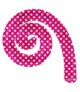 "14"" Airfill Only Kurly Spiral Hot Pink Dots Balloon"