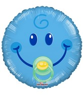 "4"" Airfill Only Smiley Boy Gellibean Balloon"