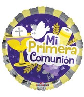 "18"" Mi Imera Comunion Elements Balloon"