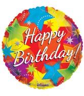 "9"" Airfill Only Birthday Bright Stars Balloon"