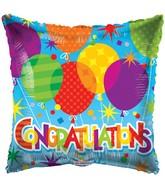 "18"" Congratulations Patterned Balloons Balloon"
