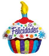 """18"""" Felicidades Cupcake Balloon"""