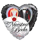 """18"""" Nuestra Boda Corazon Holografico Balloon"""
