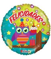 """18"""" Buho Felicidades Balloon"""