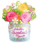 """18"""" Mom Mason Jar Shape Balloon"""