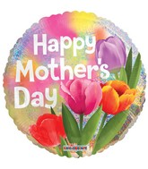 """18"""" Happy Mother's Day Real Tulips Holographic Balloon"""