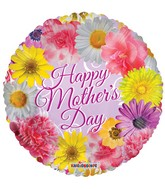 """18"""" Happy Mother's Day Sing Flowers Balloon"""