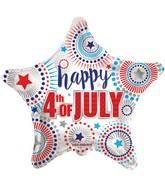 "18"" Happy 4th Of July Star Balloon"