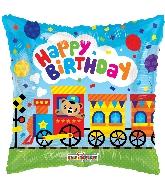 "9"" Airfill Only Square Birthday Choo Choo Train Balloon"