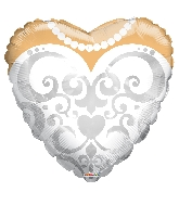 "18"" Heart Bride's Dress Balloon"