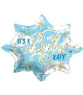 """18"""" Shape It's A Baby Boy Shape Balloon"""