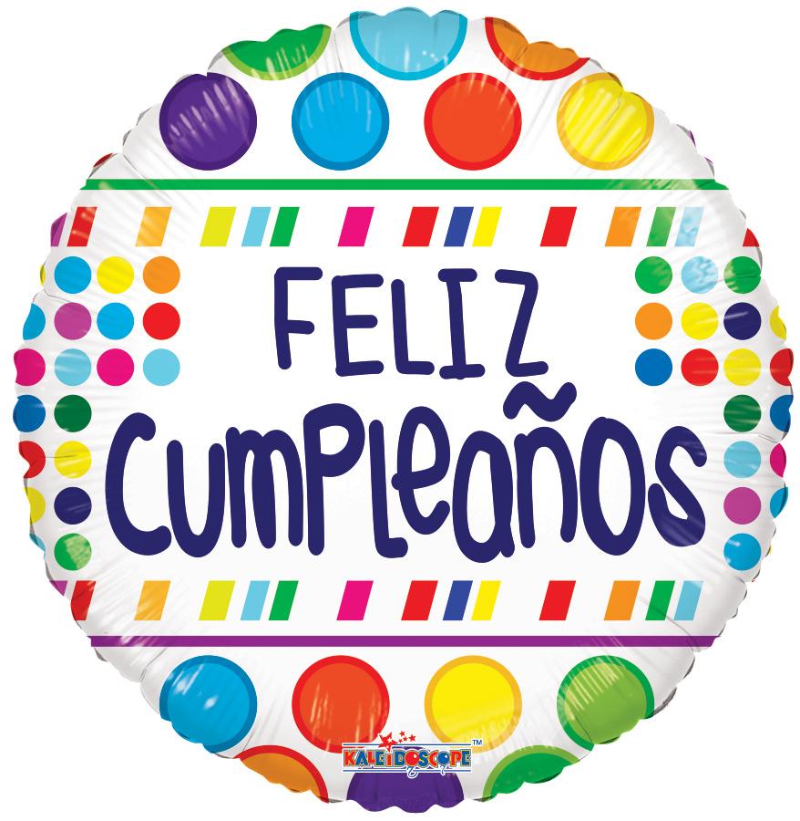 """18"""" Feliz Cumpleaños White Balloon"""