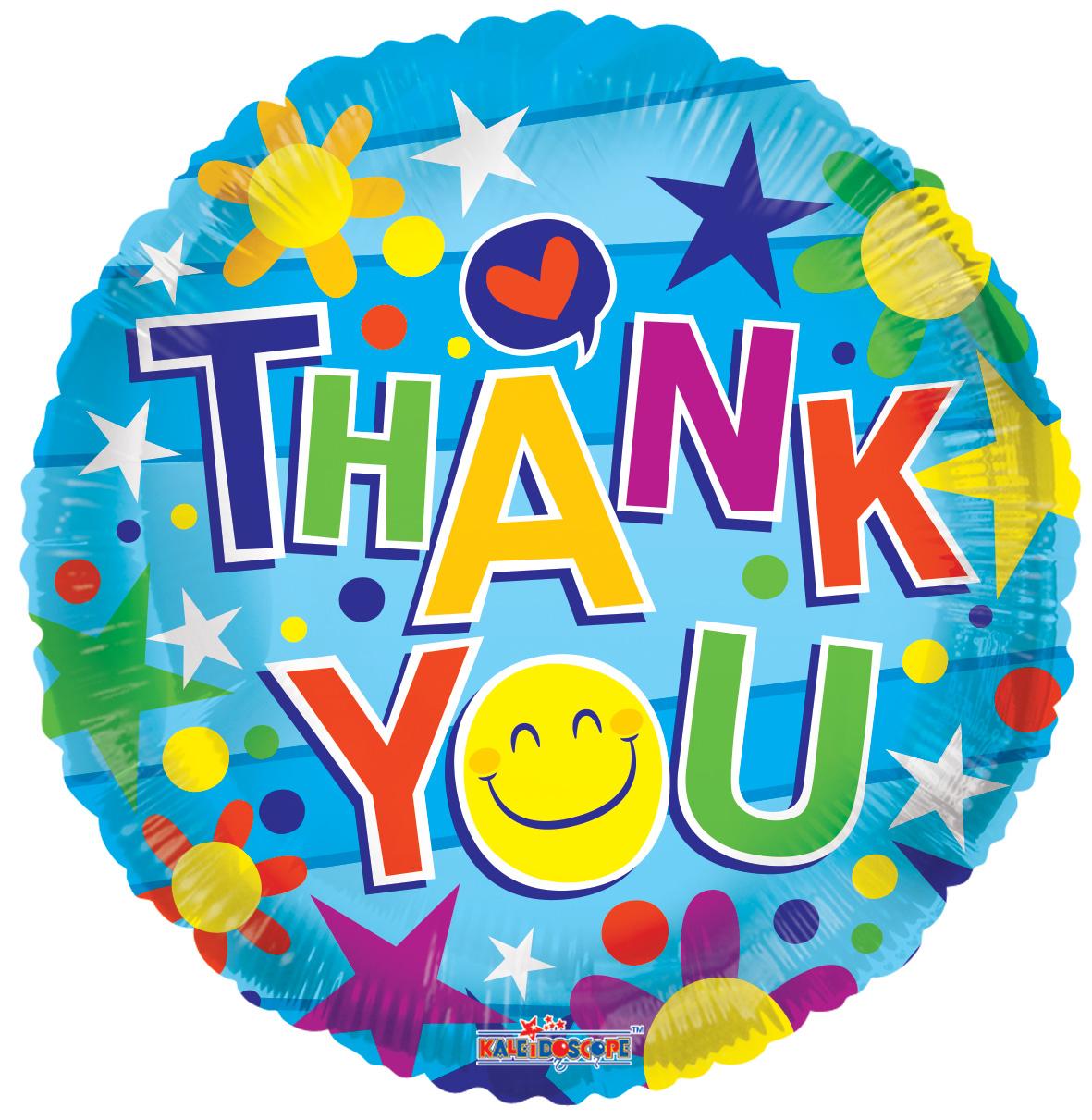"""18"""" Thank You Smiley Face Balloon"""