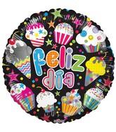 """18"""" Feliz Dia Cupcakes Balloon"""
