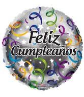 """18"""" Feliz Cumpleaños Streamers Balloon"""