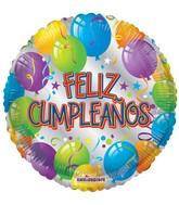 "18"" Feliz Cumpleaños Silver Balloon"