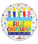 "18"" Feliz Cumpleaños Cake Balloon"