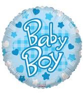 "18"" Baby Boy Patterns Balloon"