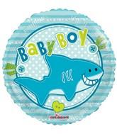 "18"" Baby Boy Little Shark Balloon"