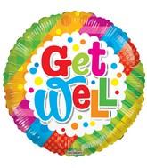 """18"""" Get Well Multicolor Balloon"""