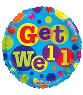 """18"""" Get Well Dots Balloon"""