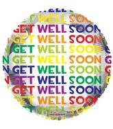 """18"""" Many Get Well Messages Balloon"""