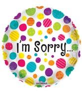 """18"""" I'm Sorry Dots Balloon"""