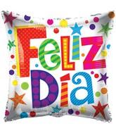 "18"" Feliz Dia Patterns Balloon"