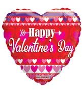 "18"" Happy Valentine's Day With Love Balloon"