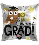 "18"" Grad Owl Balloon"