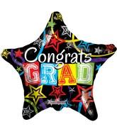 """18"""" Congrats Grad Star Balloon"""
