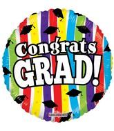 """18"""" Congrats Grad Stripes Balloon"""