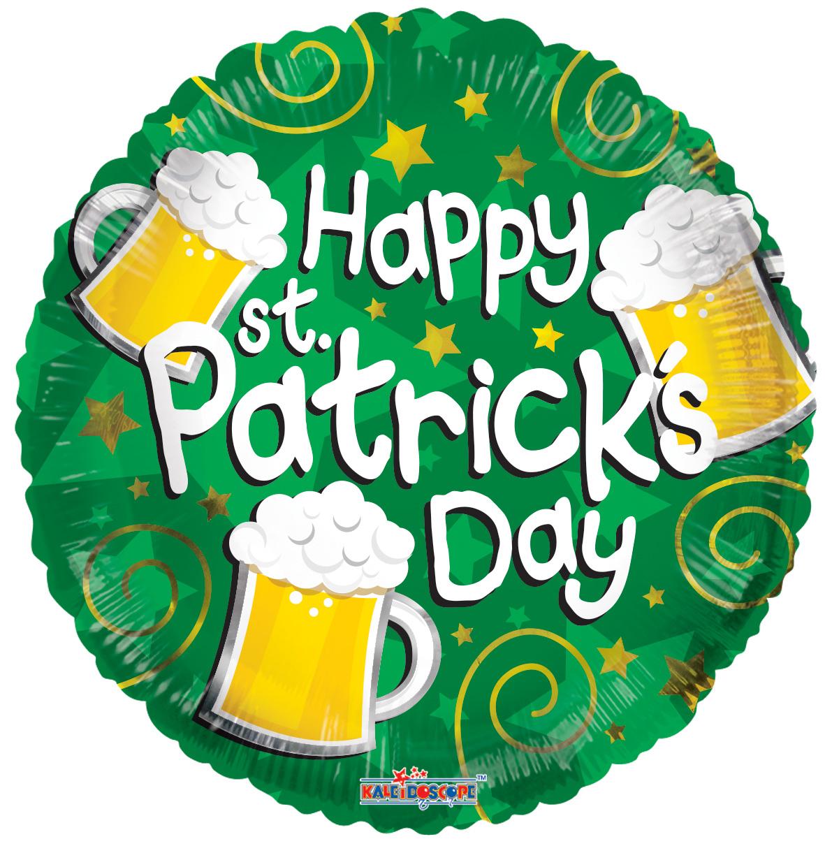 """18"""" Happy St. Patrick's Beers Balloon"""