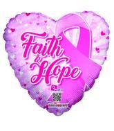 """18"""" Faith & Hope Balloon Breast Cancer"""