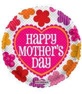 """18"""" Mother's Day Patterned Flowers Balloon"""