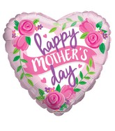 """18"""" Happy Mother's Day Roses & Banner Balloon"""