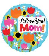 "18"" I Love You Mom Tulips Balloon"