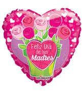 "18"" Feliz Dia De Las Madres Flowerpot Balloon"