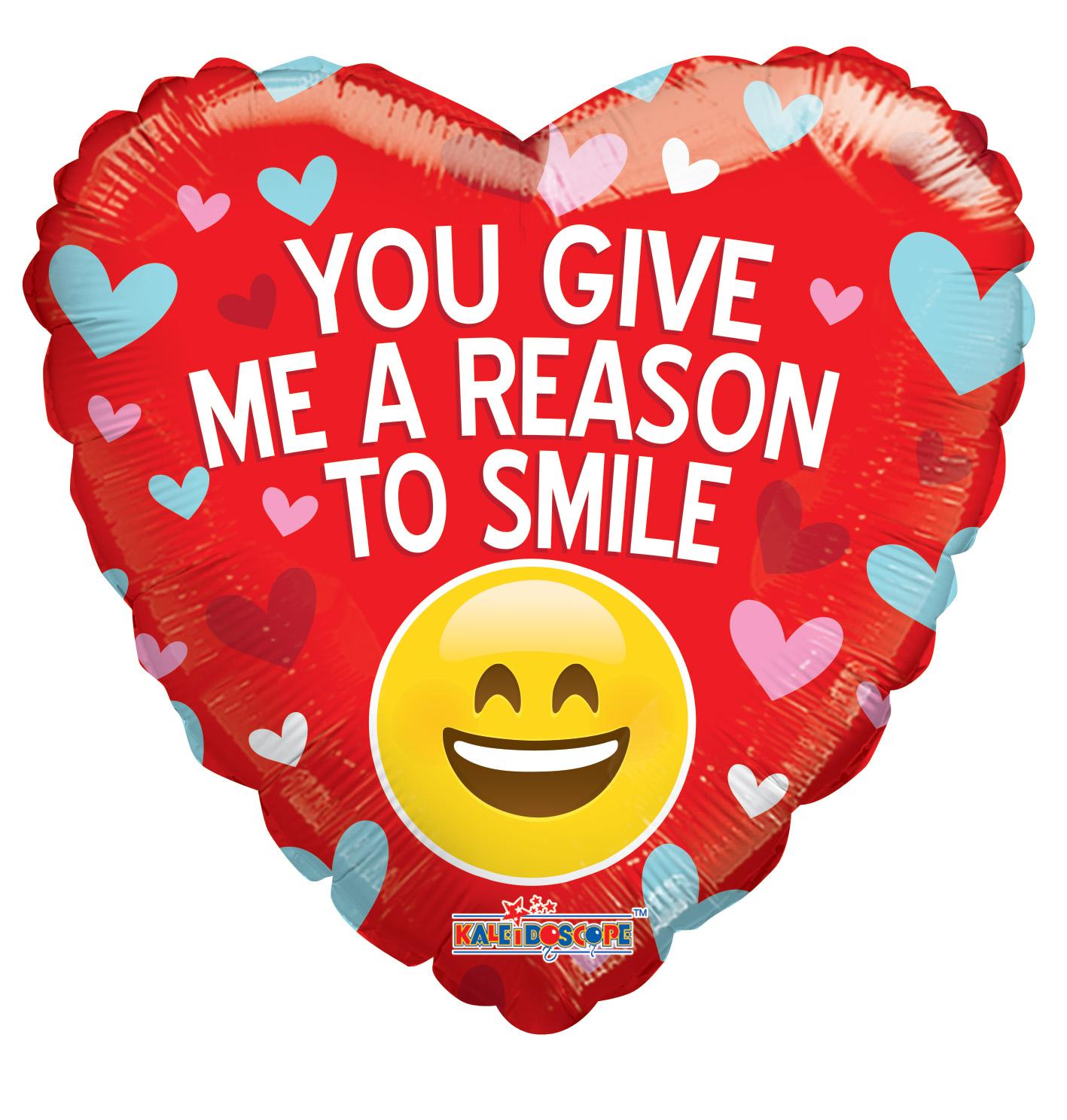 "18"" You Give Me A Reason To Smile Balloon"