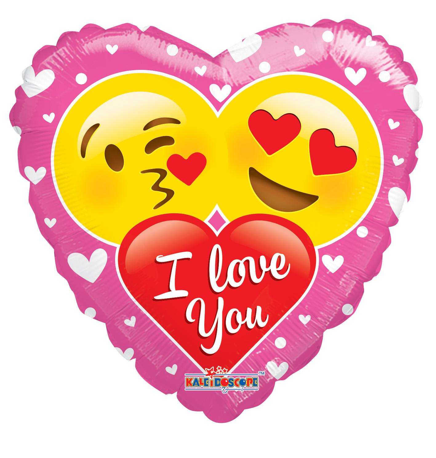 "18"" I Love You Couple Of Smilies Balloon"