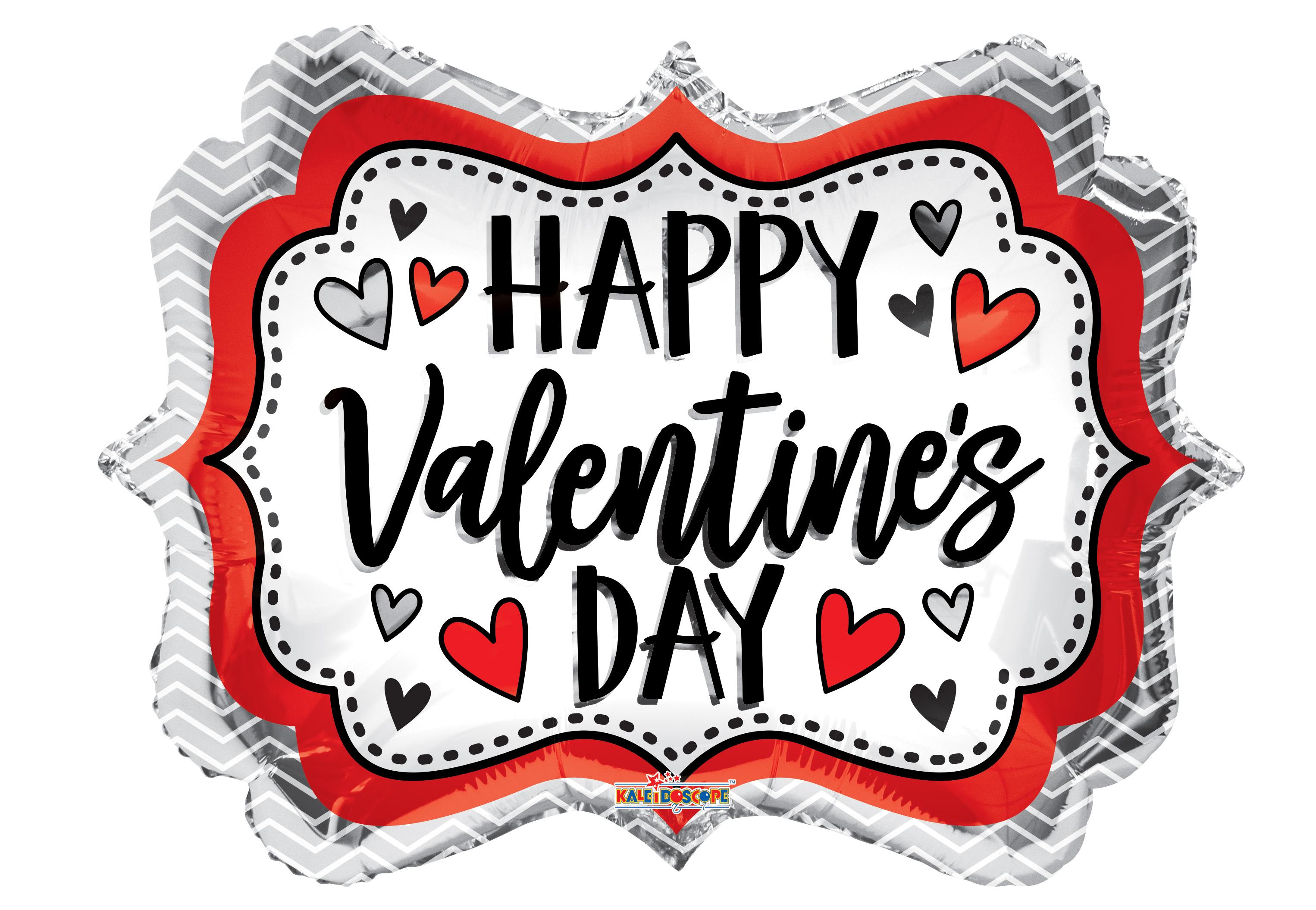 "18"" Happy Valentine's Day Marquee Shape Balloon"