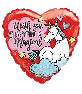 "18"" Unicorn Love Holographic Balloon"