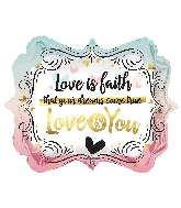 "18"" Love Is You Marquee Balloon"