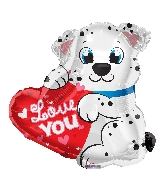 """20"""" Love You Dalmatian Shape Balloon"""