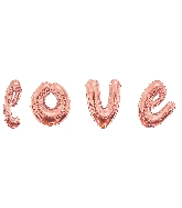 "36"" Rose Gold Love Script Assortment Balloon"