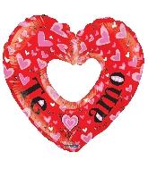 """9"""" Airfill Only Te Amo Cor. Hueco Rojo Balloon"""
